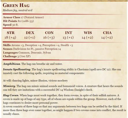 Green Hag 5e